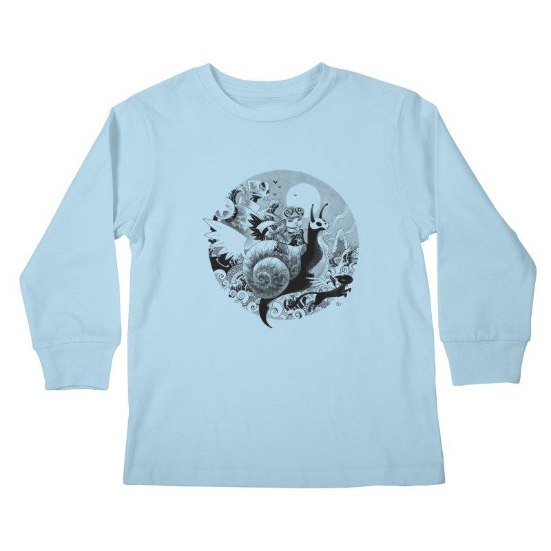 KAMIKAZE OF LOVE Kids Longsleeve T-Shirt by mfk00's Artist Shop