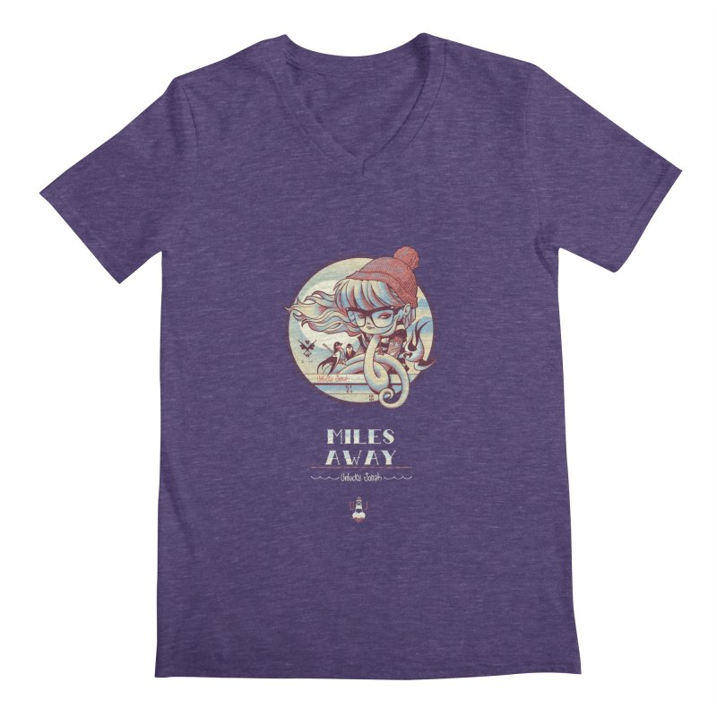MILES AWAY - JoNAH Men's V-Neck by mfk00's Artist Shop
