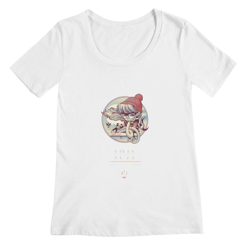 MILES AWAY - JoNAH Women's Scoopneck by mfk00's Artist Shop