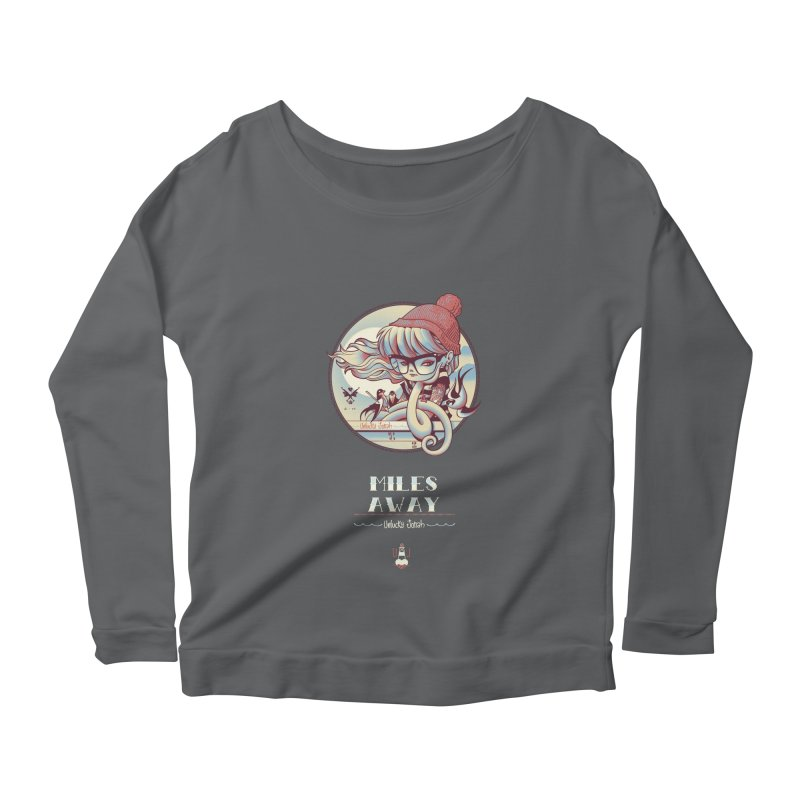 MILES AWAY - JoNAH Women's Longsleeve Scoopneck  by mfk00's Artist Shop