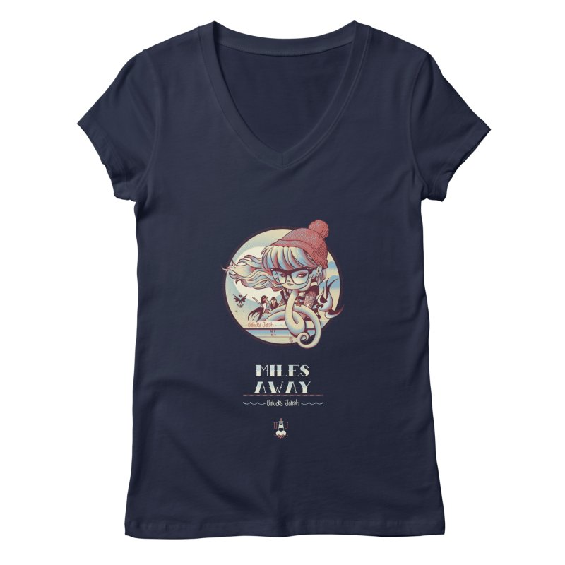 MILES AWAY - JoNAH Women's V-Neck by mfk00's Artist Shop