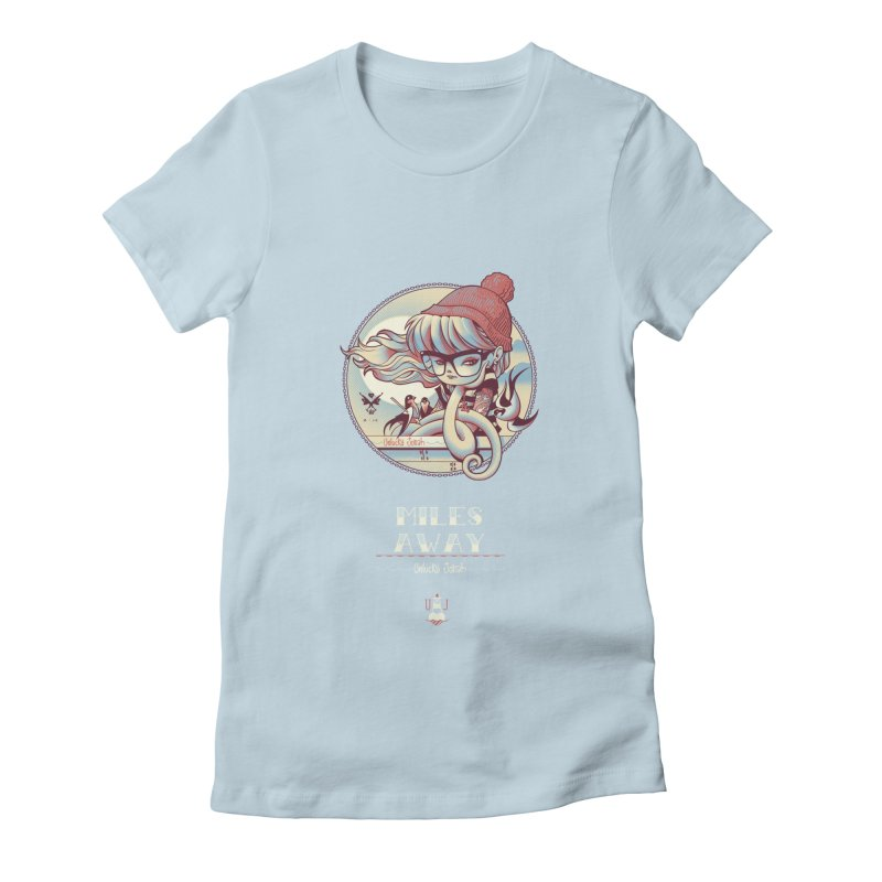 MILES AWAY - JoNAH Women's Fitted T-Shirt by mfk00's Artist Shop