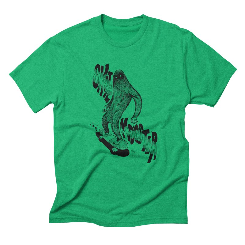 SK8 MONSTER Men's Triblend T-Shirt by mfk00's Artist Shop