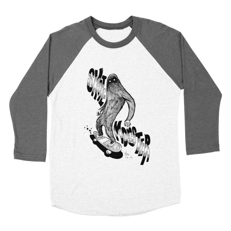 SK8 MONSTER Men's Baseball Triblend T-Shirt by mfk00's Artist Shop