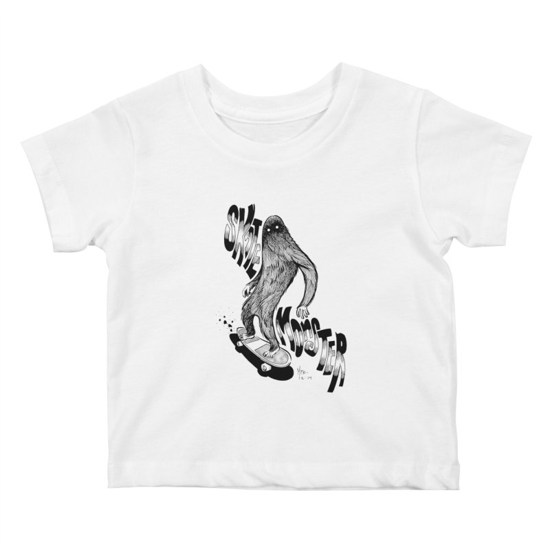 SK8 MONSTER Kids Baby T-Shirt by mfk00's Artist Shop