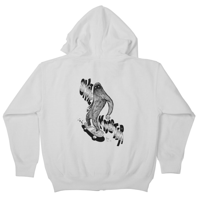 SK8 MONSTER Kids Zip-Up Hoody by mfk00's Artist Shop