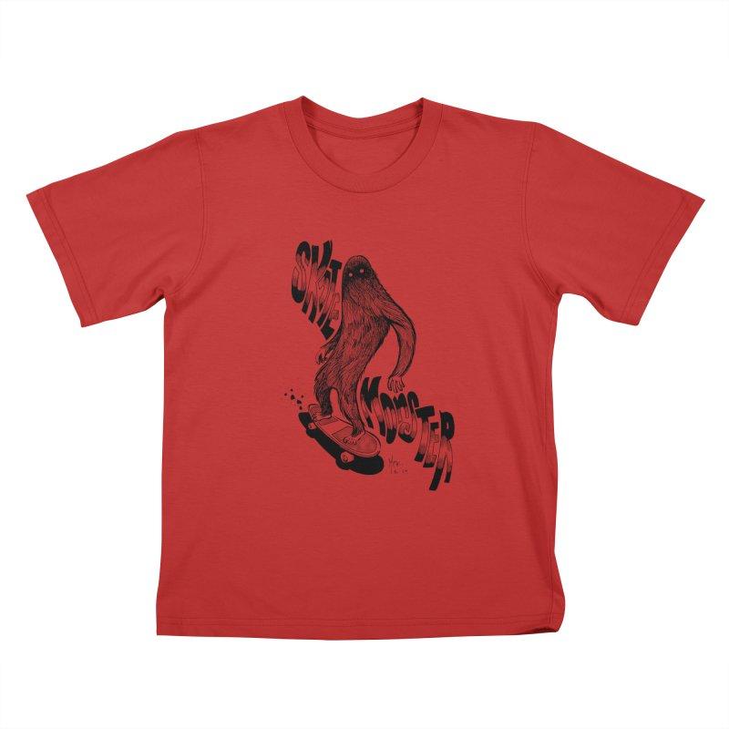 SK8 MONSTER Kids T-shirt by mfk00's Artist Shop