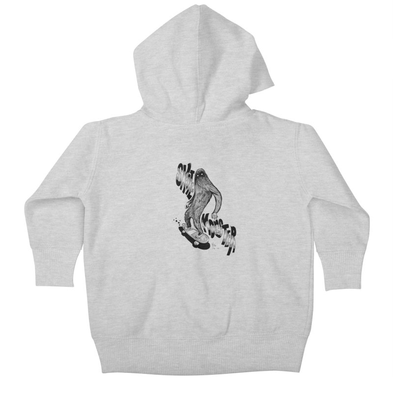 SK8 MONSTER Kids Baby Zip-Up Hoody by mfk00's Artist Shop