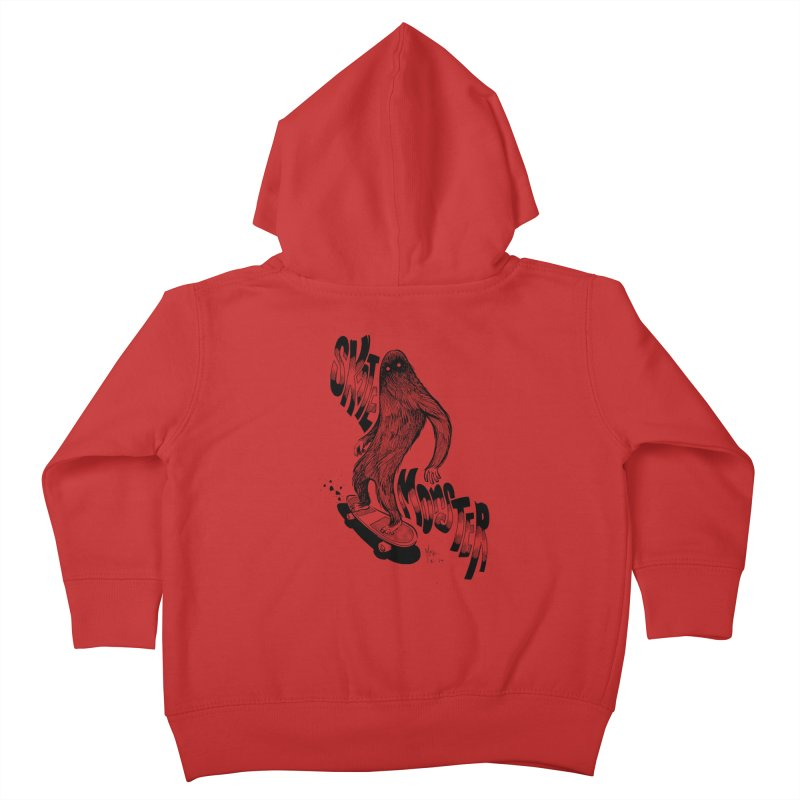 SK8 MONSTER Kids Toddler Zip-Up Hoody by mfk00's Artist Shop