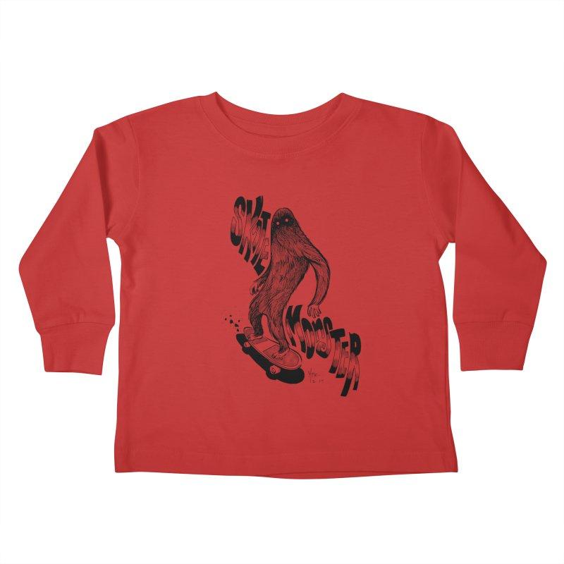 SK8 MONSTER Kids Toddler Longsleeve T-Shirt by mfk00's Artist Shop