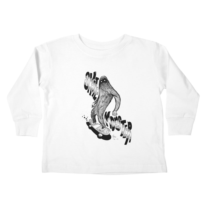 SK8 MONSTER Kids Toddler Longsleeve T-Shirt by mfk00's Artist Shop