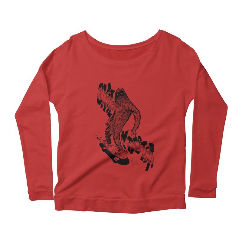 SK8 MONSTER Women's Scoop Neck Longsleeve T-Shirt by mfk00's Artist Shop