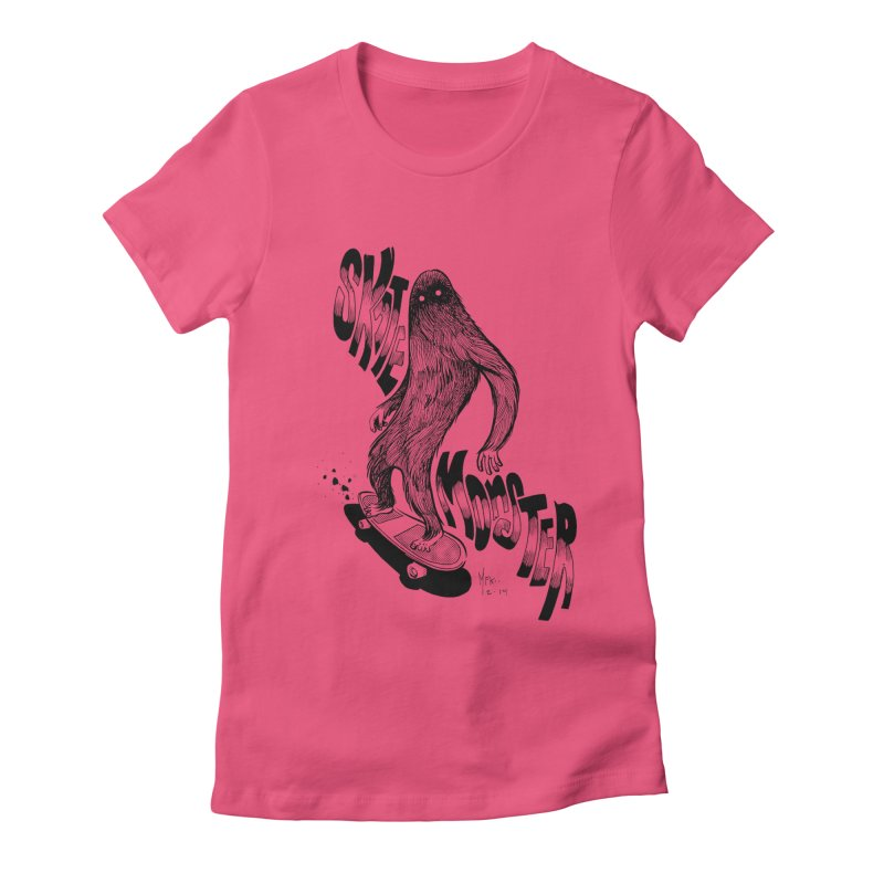 SK8 MONSTER Women's Fitted T-Shirt by mfk00's Artist Shop