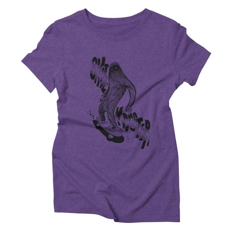 SK8 MONSTER Women's Triblend T-shirt by mfk00's Artist Shop