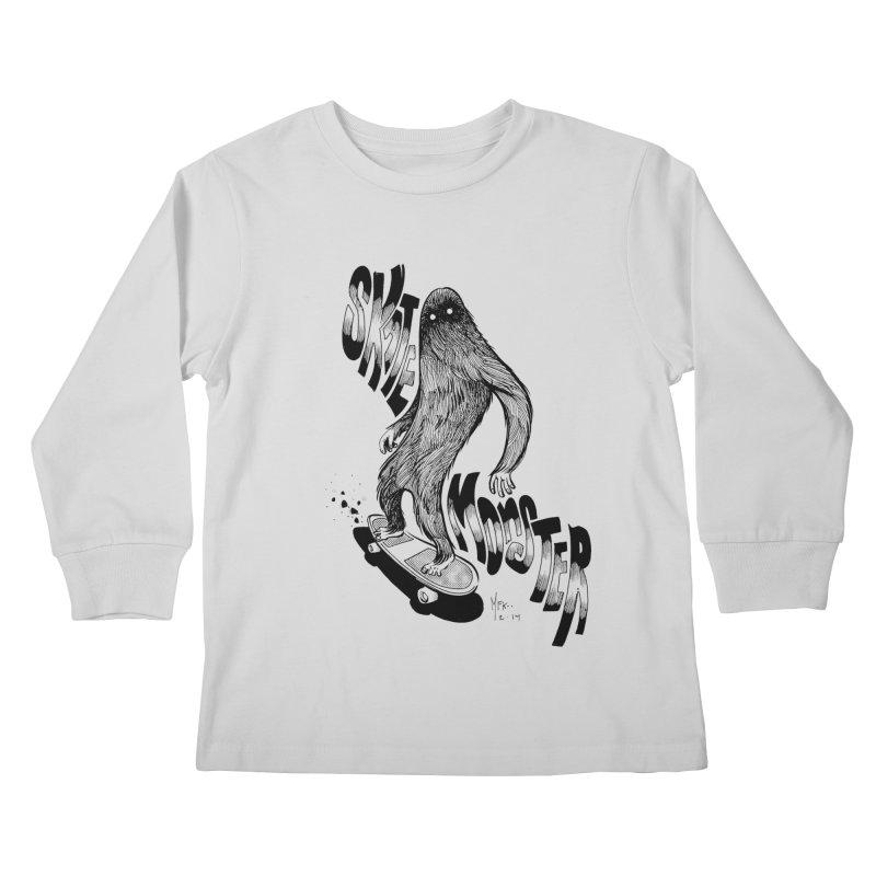 SK8 MONSTER Kids Longsleeve T-Shirt by mfk00's Artist Shop