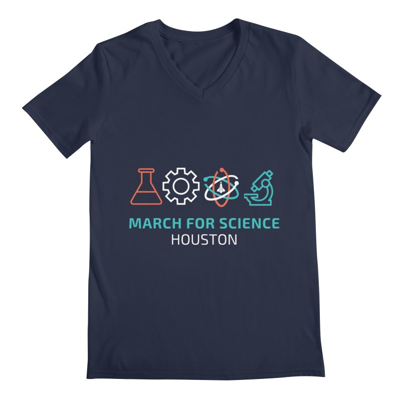 March for Science Houston Men's V-Neck by March for Science Houston