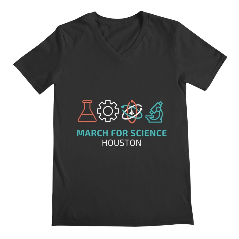 March for Science Houston Men's Regular V-Neck by March for Science Houston