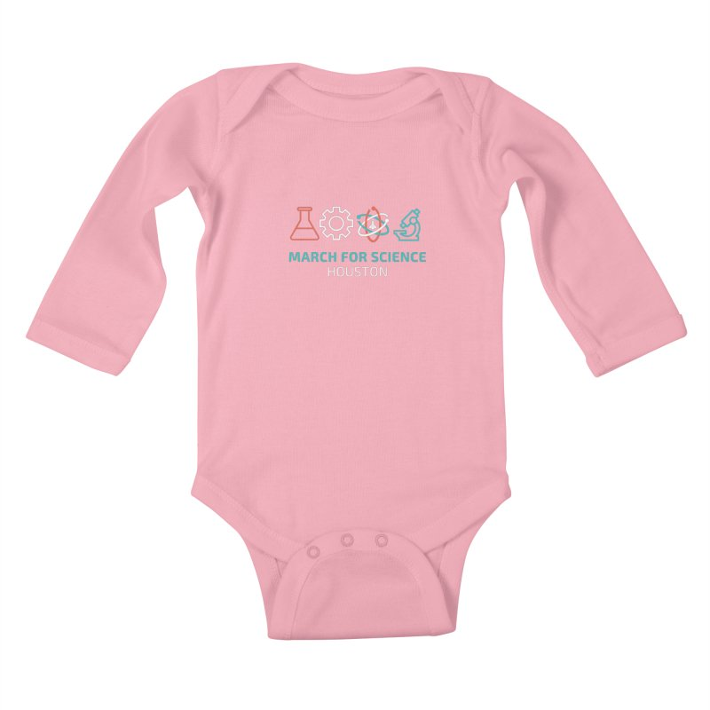 March for Science Houston Kids Baby Longsleeve Bodysuit by March for Science Houston