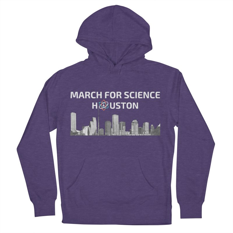 Houston Skyline - MFSH Women's French Terry Pullover Hoody by March for Science Houston