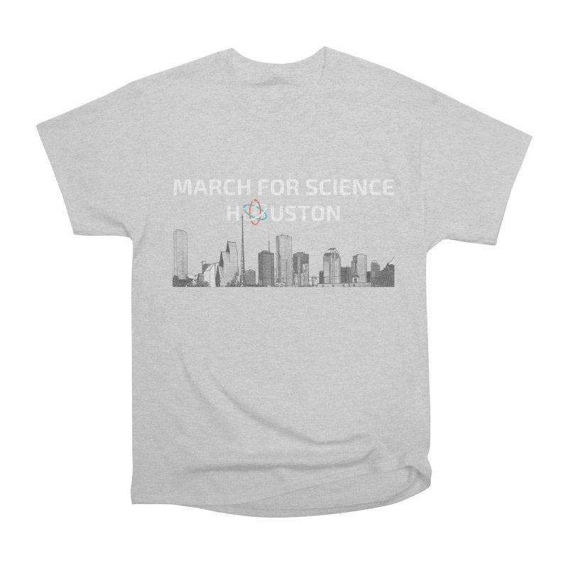 Houston Skyline - MFSH Men's Heavyweight T-Shirt by March for Science Houston