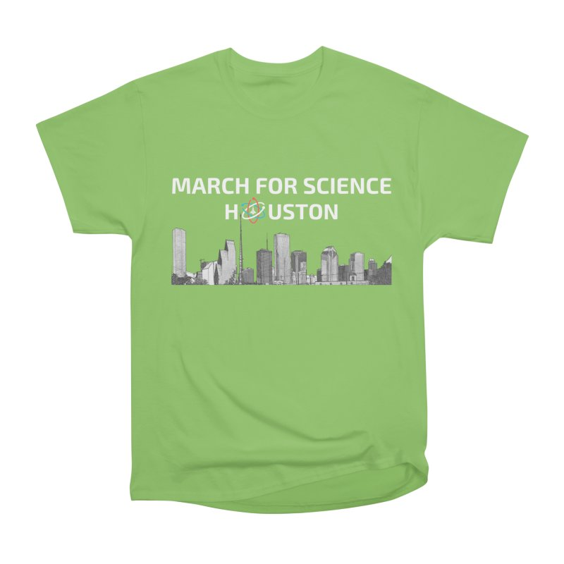 Houston Skyline - MFSH Men's Heavyweight T-Shirt by March for Science Houston