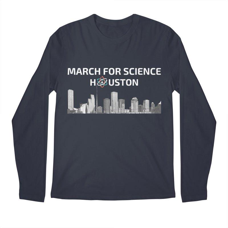 Houston Skyline - MFSH Men's Regular Longsleeve T-Shirt by March for Science Houston