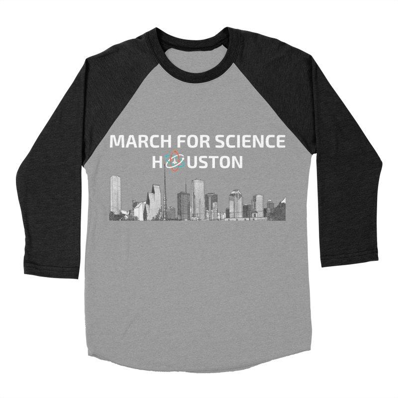Houston Skyline - MFSH Men's Baseball Triblend T-Shirt by March for Science Houston