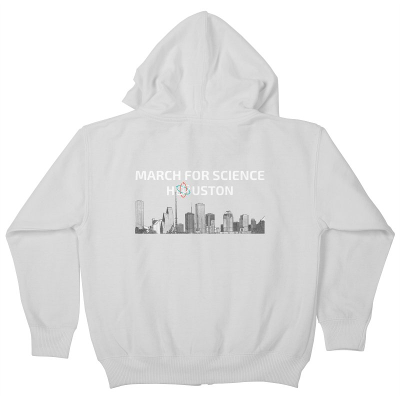 Houston Skyline - MFSH Kids Zip-Up Hoody by March for Science Houston