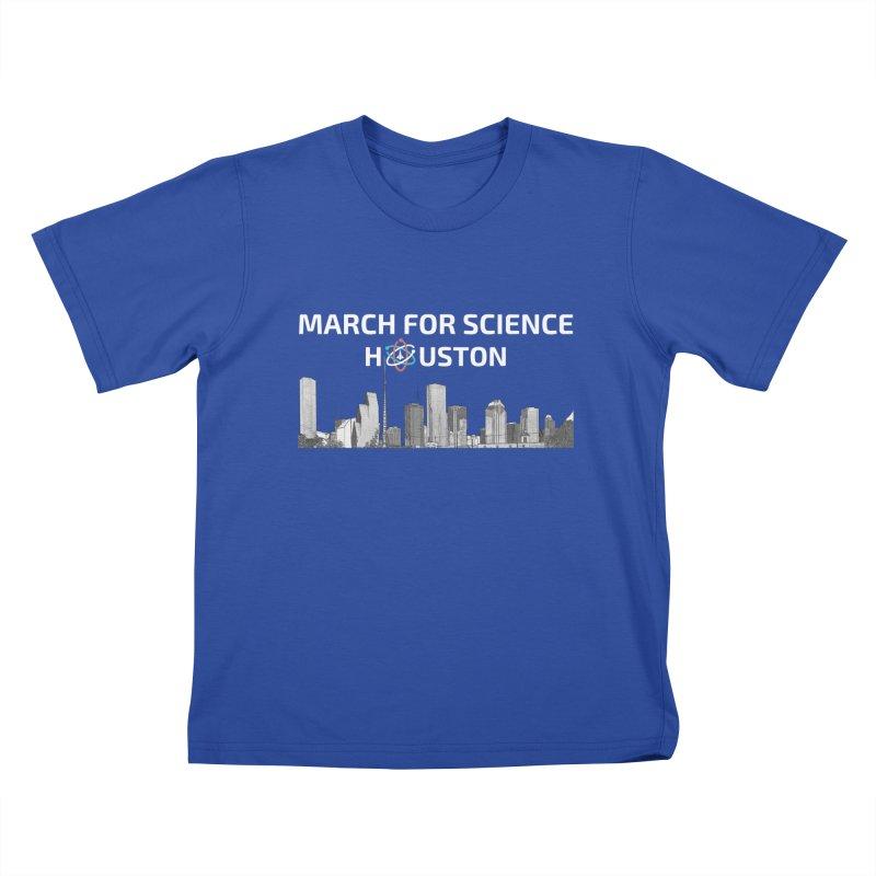 Houston Skyline - MFSH Kids T-Shirt by March for Science Houston