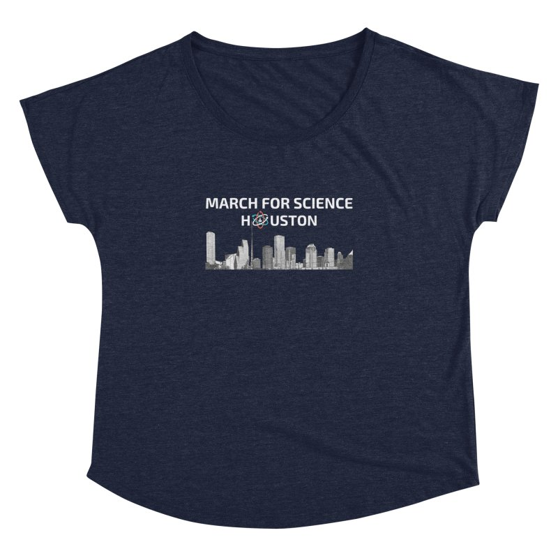 Houston Skyline - MFSH Women's Dolman Scoop Neck by March for Science Houston