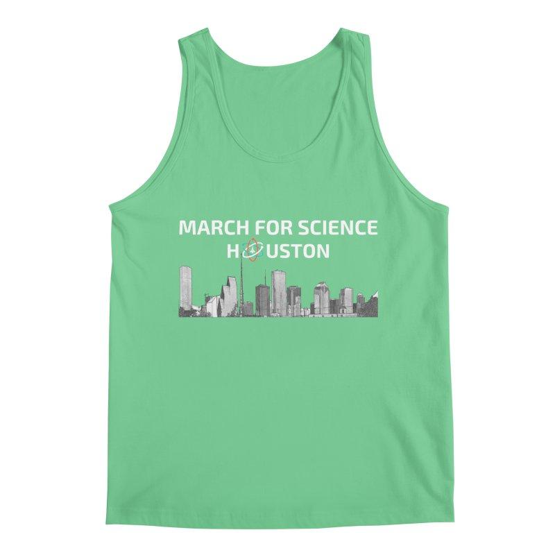 Houston Skyline - MFSH Men's Regular Tank by March for Science Houston