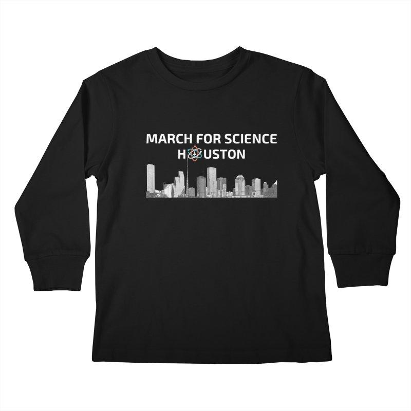 Houston Skyline - MFSH Kids Longsleeve T-Shirt by March for Science Houston