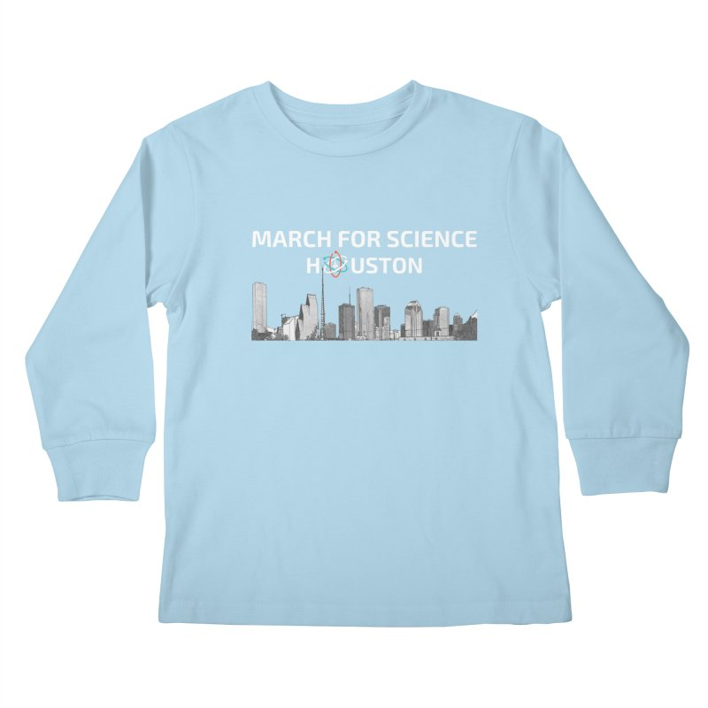 Houston Skyline - MFSH Kids Longsleeve T-Shirt by March for Science Houston
