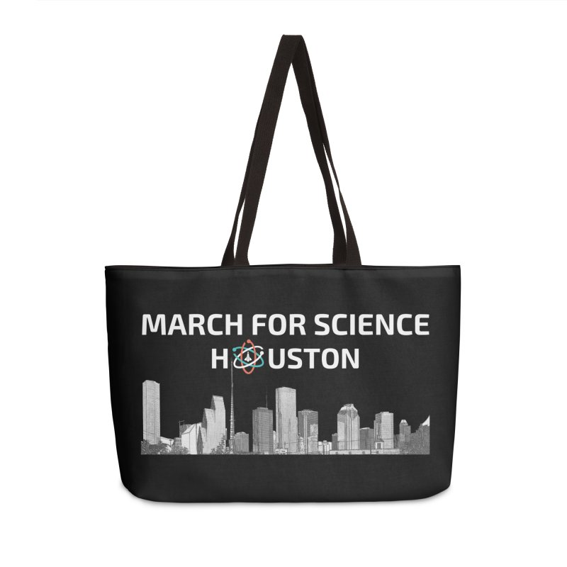 Houston Skyline - MFSH Accessories Weekender Bag Bag by March for Science Houston