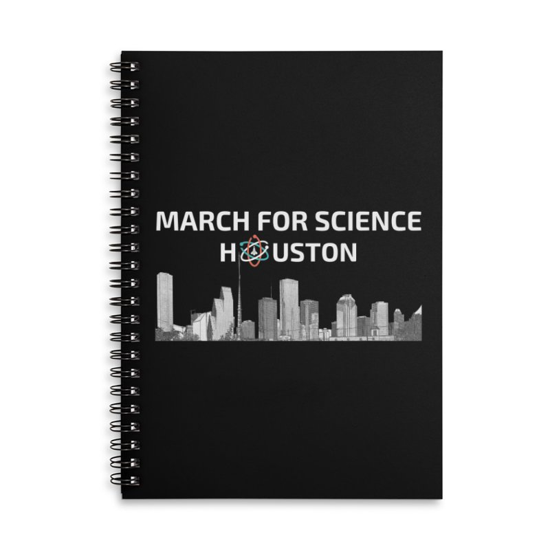 Houston Skyline - MFSH Accessories Lined Spiral Notebook by March for Science Houston