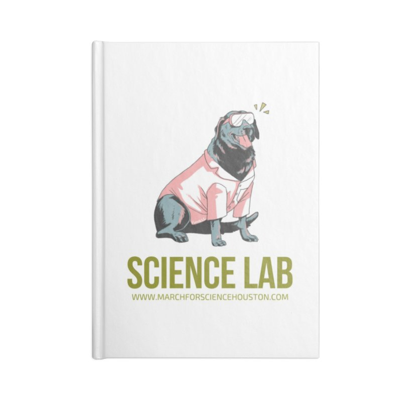 Science Lab Accessories Blank Journal Notebook by March for Science Houston
