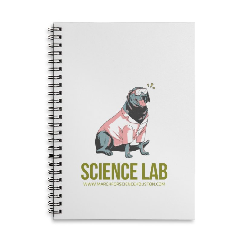 Science Lab Accessories Lined Spiral Notebook by March for Science Houston