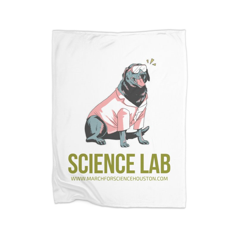 Science Lab Home Fleece Blanket Blanket by March for Science Houston