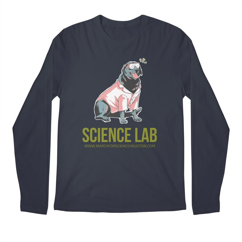 Science Lab Men's Regular Longsleeve T-Shirt by March for Science Houston