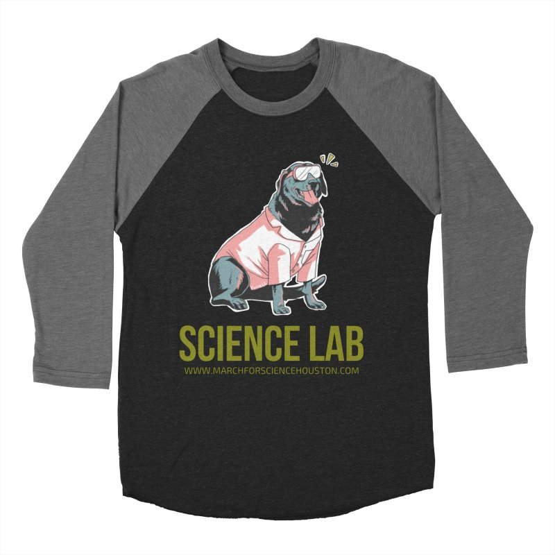 Science Lab Women's Baseball Triblend Longsleeve T-Shirt by March for Science Houston