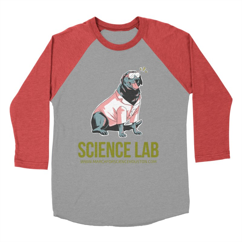 Science Lab Men's Baseball Triblend T-Shirt by March for Science Houston