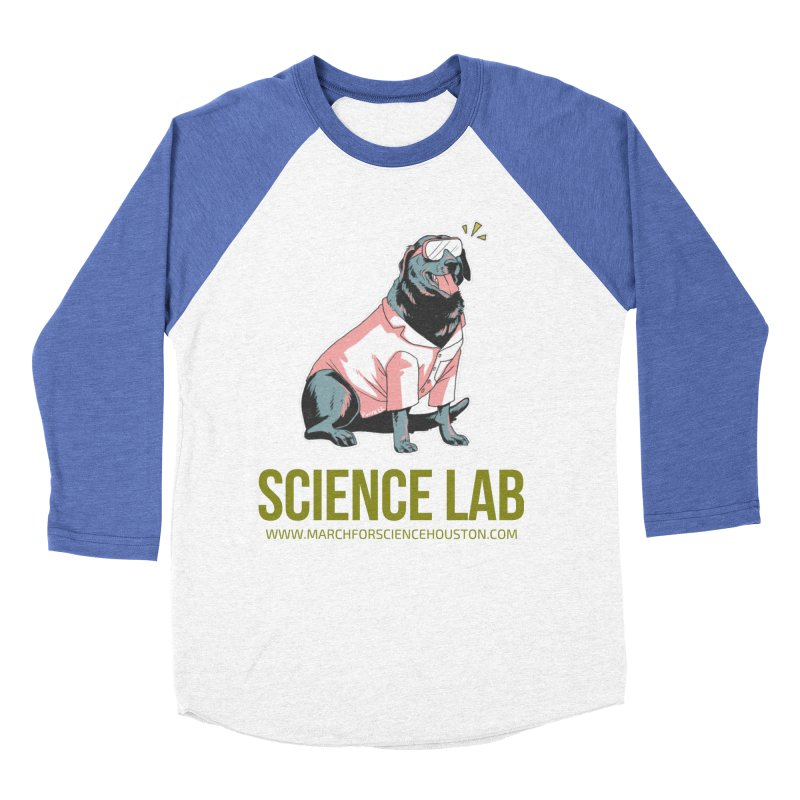 Science Lab Men's Baseball Triblend Longsleeve T-Shirt by March for Science Houston