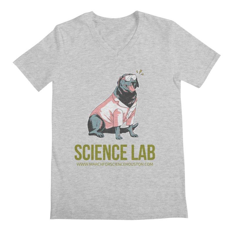 Science Lab Men's Regular V-Neck by March for Science Houston