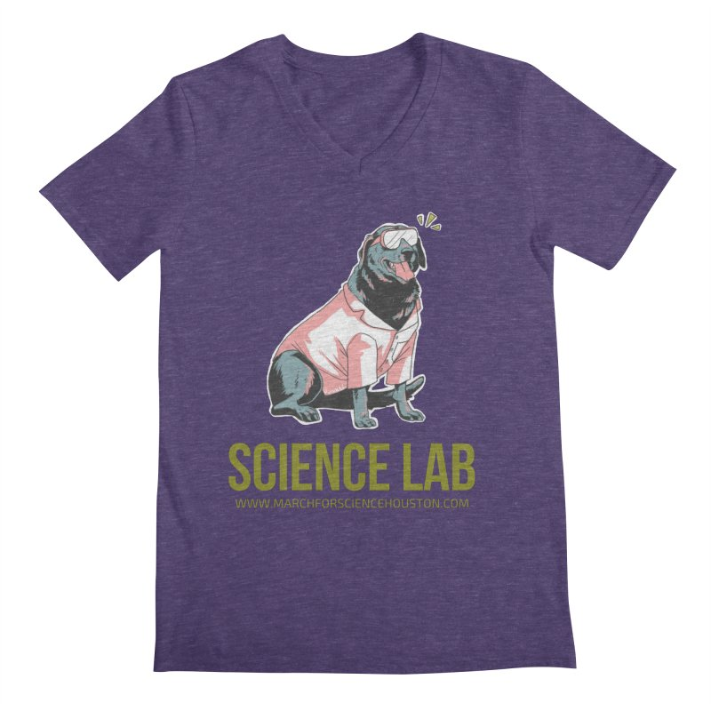 Science Lab Men's Regular V-Neck by March for Science Houston