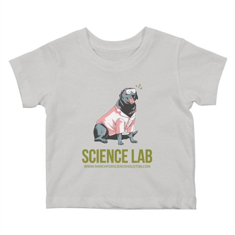 Science Lab Kids Baby T-Shirt by March for Science Houston