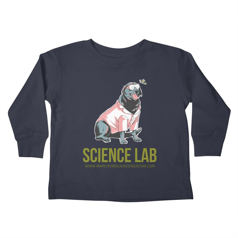 Science Lab Kids Toddler Longsleeve T-Shirt by March for Science Houston