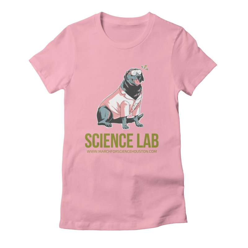 Science Lab Women's Fitted T-Shirt by March for Science Houston