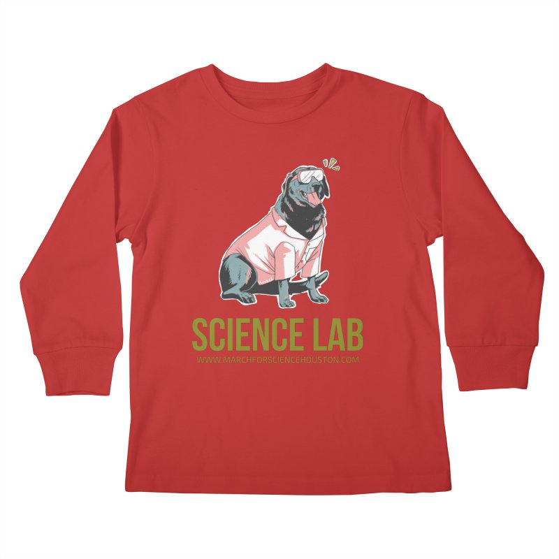 Science Lab Kids Longsleeve T-Shirt by March for Science Houston