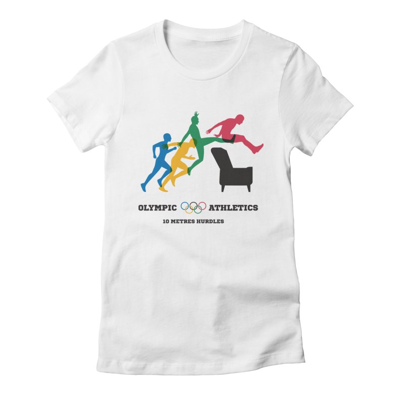Olympic Athletics Women's Fitted T-Shirt by mhacksi's Artist Shop