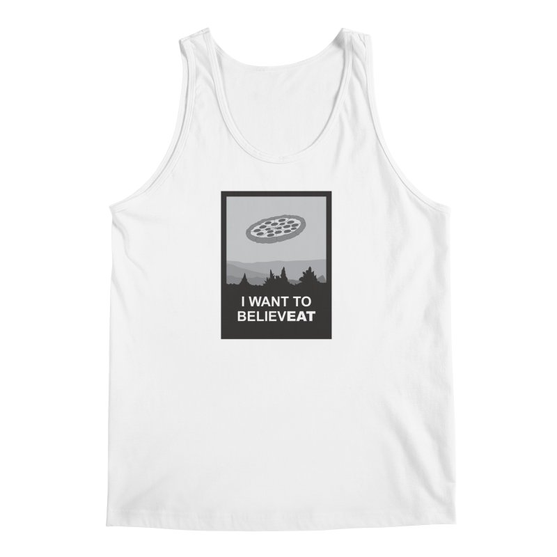 I want to believeat - pizza Men's Tank by mhacksi's Artist Shop